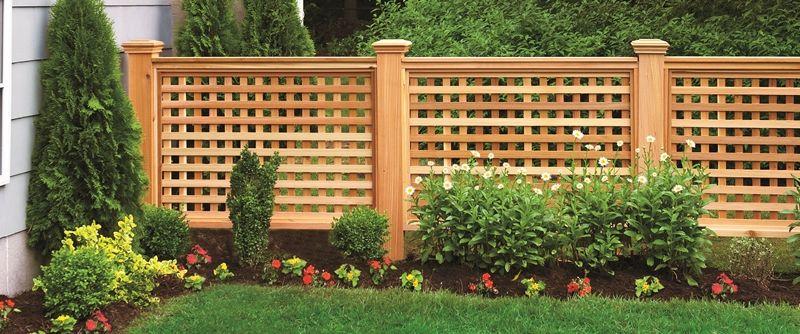 Деревянный забор - решетка фото