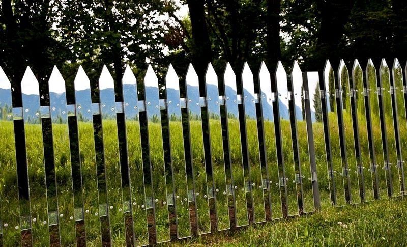 Виды заборов для дома - Зеркальный забор