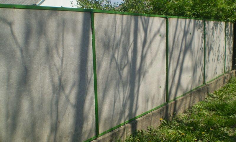 Все виды заборов для дома и дачи - ограда из плоского шифера