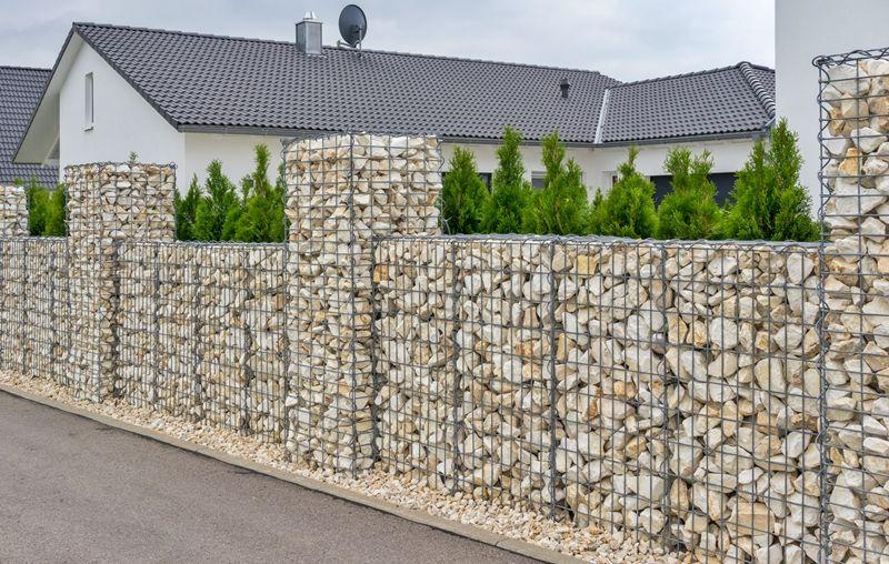 Забор из габионов - фото
